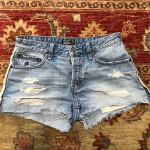 Abercrombie and Fitch Ames boyfriend jean shorts